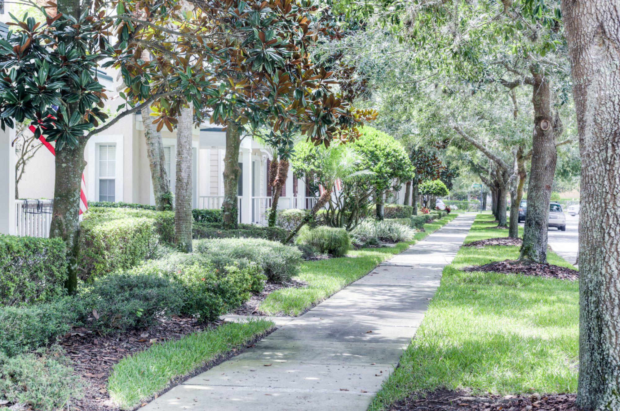 NorthLake Park landscape sidewalk